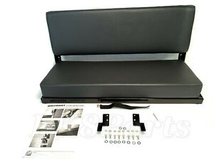 Land Rover Series 88 swb Defender 90 Grey Vinyl Rear Bench Seat 320737lcs New