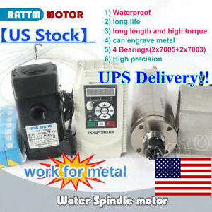 usa cnc 2 2kw Er20 Waterproof Water cooled Spindle Carved Metal