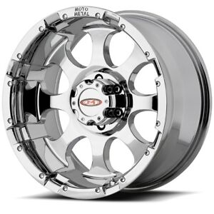 16 Inch Chrome Wheels Rims Moto Metal Mo955 Chevy Silverado 2500 3500 Truck 8 Lu