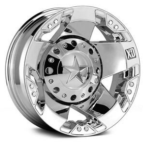 16 Inch Chrome Wheels Rims Xd Rockstar Dually Chevy Dually Ford F 350 8x6 5 New