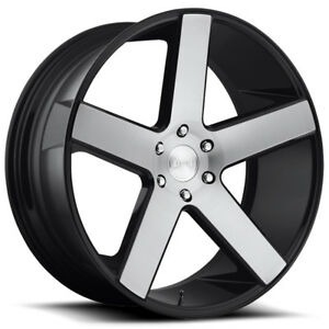 26 Inch Dub S217 Baller 26x10 6x135 30mm Black machined Wheel Rim