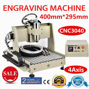 4 Axis Cnc 3040 Router Engraver Drilling Milling Machine 800w Mach3 Desktop Usa