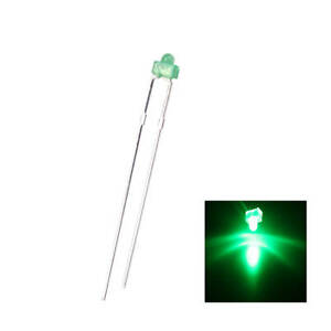 500pcs 1 8mm Led Diffused Green 2pin Round Top Emitting Diode Lights