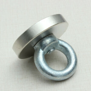 50x50mm Strong Round Rare Earth Permanent Neodymium Salvag Magnet Eyebolt Ring