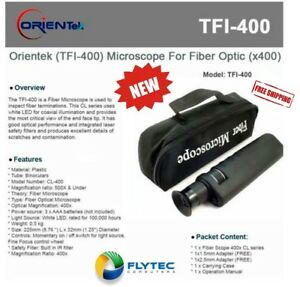 Orientek Tfi 400 Microscope For Fiber Optic x 400 ships From Us
