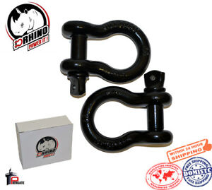 2 D Rhino 3 4 D Ring Shackles Jeep Off Road Towing Chain Bow Buckle Black 4 T