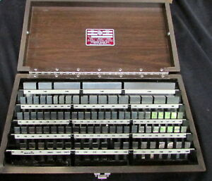 Starrett Rs 92 a1 Rec Steel 050 4 Gage Block Set inch 91 Pieces Grade 2