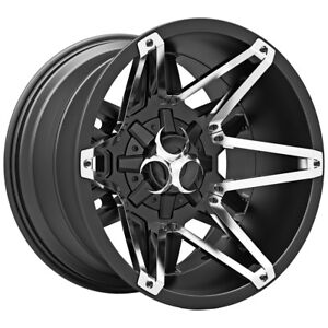 4 New 20 Inch Toxic 304 Shok 20x10 8x170 25mm Satin Black Wheels Rims
