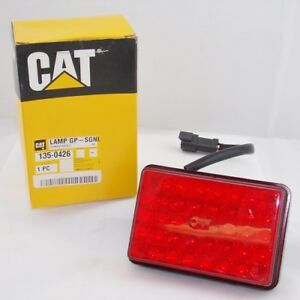 Genuine Caterpillar 135 0426 24 Volt Red Led Signal Light