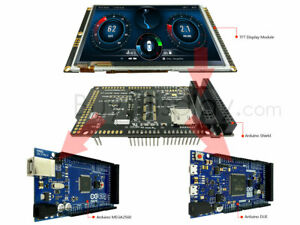 5 tft Display Arduino Due Mega Uno Lcd Shield W capacitive Touch Screen 800x480