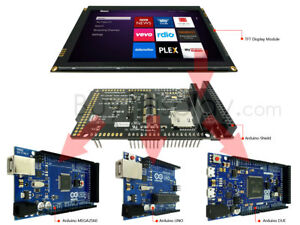 7 inch 1024x600 Tft Capacitive Touch Screen Shield For Arduino Due mega2560 uno