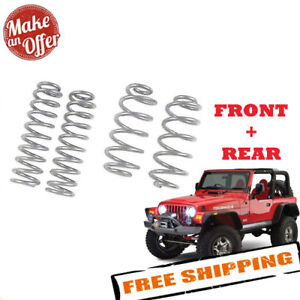 Rubicon Express Front Rear Coil Springs 5 5 Lift 1997 2006 Jeep Wrangler Tj