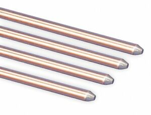 Erico Pointed End Ground Rod 10 Ft 5 8 Diameter Copper Bonded Steel Ul