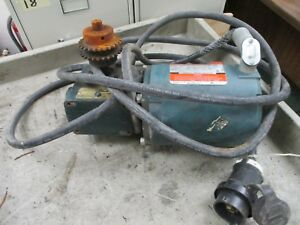 Reliance Electric Motor W Gear B77b9479s 1 2hp 1800rpm 230 460v 2 4 1 2a Used