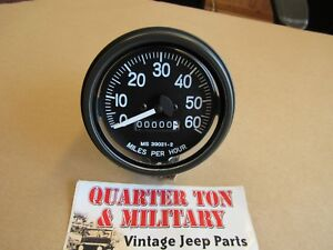 Willys Jeep M38 M38a1 M170 M151 Correct M series Military Speedometer