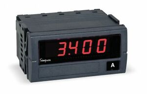 Simpson Electric Digital Panel Meter Ac Current F45 1 46 0 a