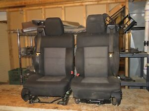 Front Black Vinyl Seat Ford Pickup F150 04 05 06 07 08 Power Drivers Read