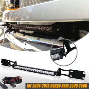 04 13 16 Dodge Ram 2500 3500 Bumper Mount Bracket 20 Single Row Led Light Bar