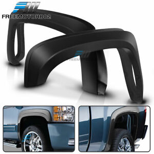 Fits 07 13 Chevy Silverado 1500 Short Bed Oe Style Trunk Fender Flares Trim