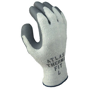 Atlas Therma fit 451 Latex Coated Gloves Large Gray light Gray