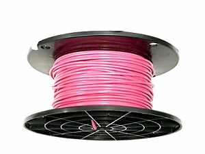 18 Gauge Primary Wire Pink 500 Ft Awg Stranded Copper Power Ground Mtw