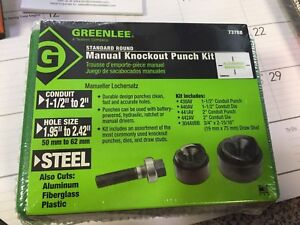 Greenlee 737bb Manual Knockout Punch Kit