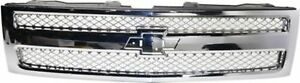 Chrome Grill Assembly For 2012 2013 Chevrolet Silverado 1500 Grille Gm1200655n