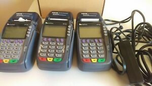Verifone Vx 570 Omni 5700 Credit Card Terminal W Power Supply Lot Of 3