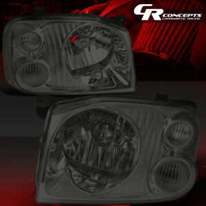 Left right Smoked Housing Clear Corner Headlight lamp For 01 04 Nissan Frontier