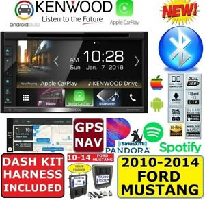 2010 2014 Mustang Kenwood Apple Carplay Android Auto Bluetooth Usb Car Stereo
