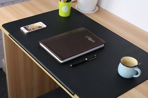 Desk Pads Artificial Leather Laptop Mat With Fixation Lip Black