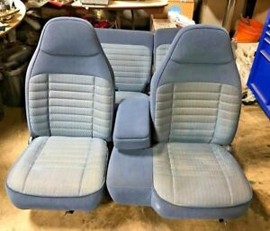1991 97 Ford Explorer Ranger Full Set Blue Seats Driver Passenger Rear Bench Oem