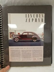 Antique Collection Lincoln Zephyr 1936 42 And Lincoln 1946 48 Magazine Ads