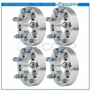4pcs 5x4 5 To 5x5 1 25 Adapters Wheel Spacers For Jeep Wrangler Ford Mustang