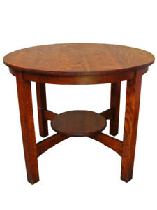Antique Arts Crafts Lamp Table W93 Stickley Era