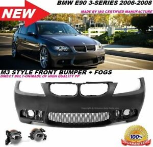 M3 Style Front Bumper Glass Projector Fog Fit 06 08 Bmw E90 E91 4dr 3 Series