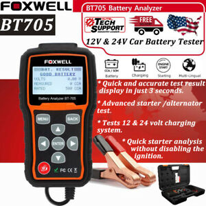 12v 24v Battery Tester Starting Charging Test Foxwell Bt705 Car Diagnostic Tool