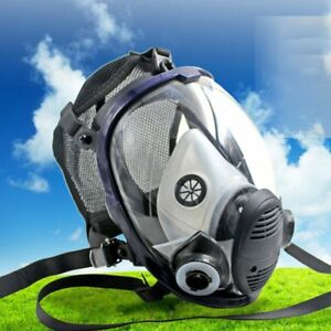 Full Face Respirator Anti dust Chemical Safety Gas Mask With Cotton Filter Sh