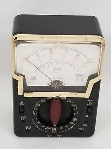 Vintage Triplett Model 630 pl Volt Ohm Meter Analog Multimeter