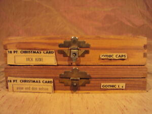 Kingsley Hot Foil Machine Type Letters Christmas Card Gothic Caps Lower Case