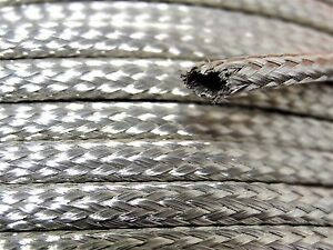 Tubular Braided Shield Tinned Copper Wire 1 8 Wide Ground Strap Usa 15 Ft