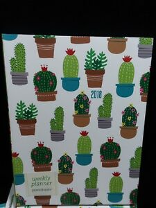 Weekly Planner 18 Month Engagement Calendar 6x8 Cactus Flexi Punctuate Lot Of 10
