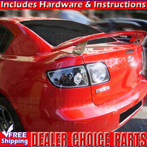 2004 2005 2006 2007 2008 2009 Mazda 3 Jdm Style Spoiler Trunk Wing Unpainted
