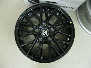 Keen Design For Kia Black Painted 15 Rims 2016 2019 Forte Qty Of 4 Kawh15fo01gb