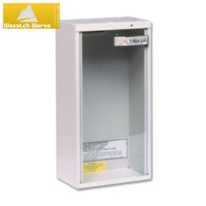 Fire Extinguisher Cabinet Surface Mount Heavy Duty Steel Tempered Glass 10 Lbs