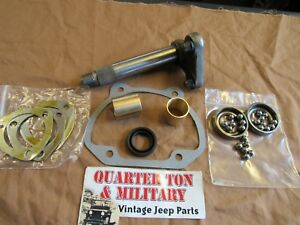 Jeep Willys M38a1 M170 Ross 15 16 Steering Box Sector Shaft Kit 807478 G758