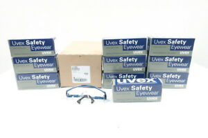 Box Of 10 New Uvex S1299c Astrospec 3000 Blue Frame Clear Safety Glasses