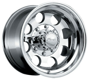4 new 17 Inch Pacer 164p Lt Mod Polished 17x9 8x6 5 12mm Polished Wheels Rims