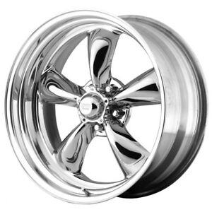 4 New 14 Inch 14x6 Ar Vn815 Torq Thrust Ii 5x4 75 2mm Pvd Chrome Wheels Rims