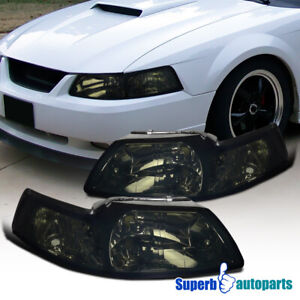 For 1999 2004 Ford Mustang V6 Gt Headlights Corner Lamps Smoke Tint